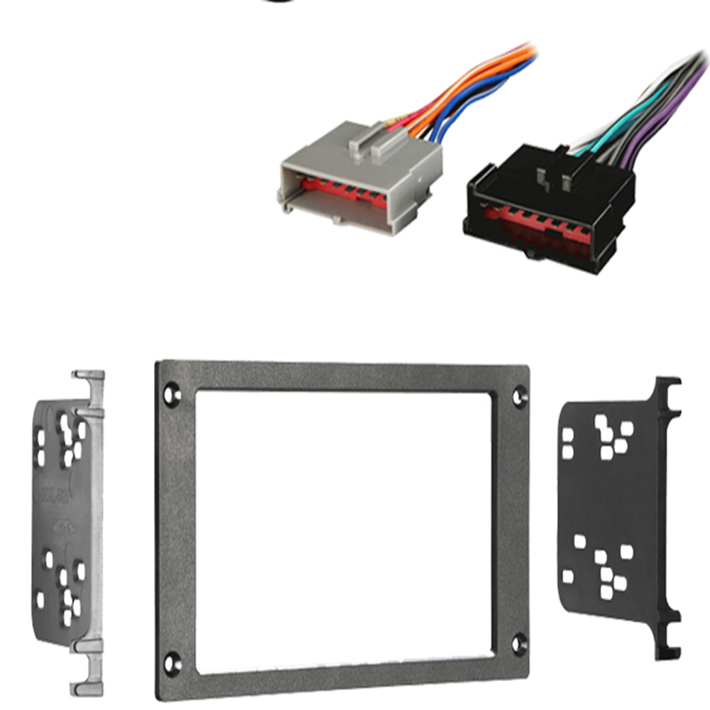 Ford Mustang 1987 1993 Double DIN Stereo Harness Radio Install Dash Kit Package