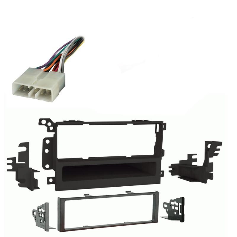 GMC Yukon Yukon XL 2003 2004 2005 2006 Single DIN Stereo Harness Radio Install Dash Kit