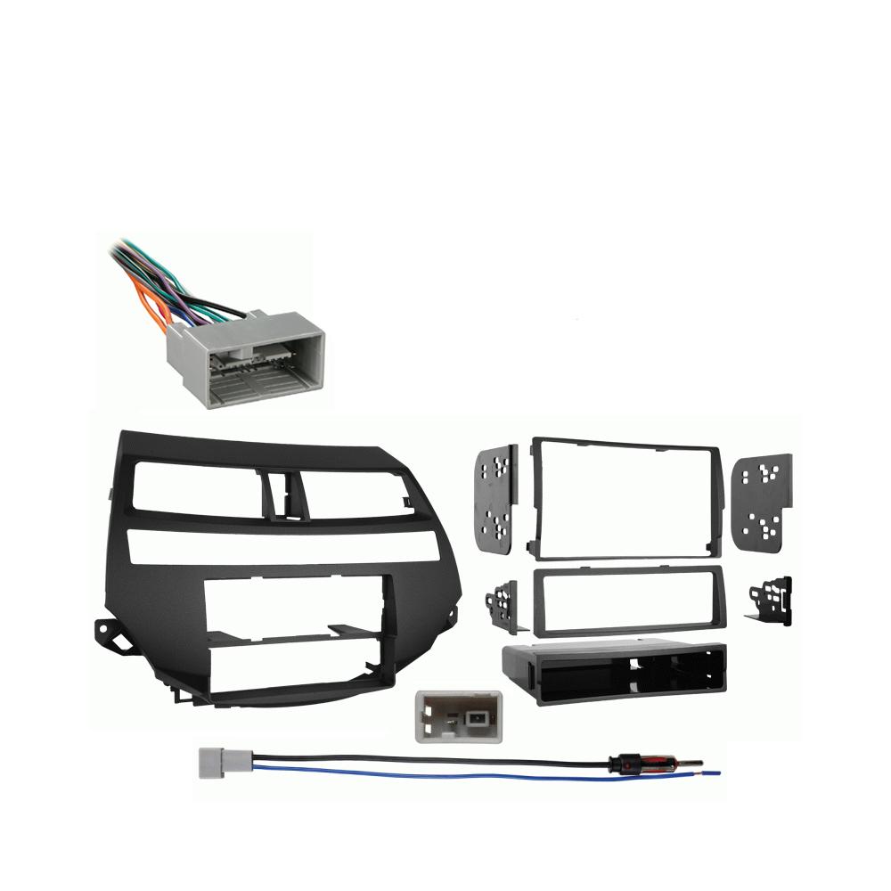 Honda Accord Crosstour 2010 2011 2012 w  Auto Climate Stereo Harness Radio Dash Kit