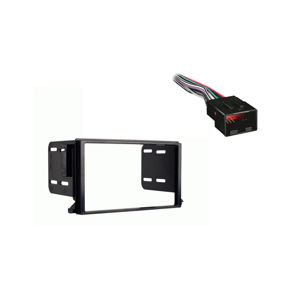 Lincoln Continental 1998 1999 2000 2001 2002 Double DIN Stereo Harness Radio Install Dash Kit