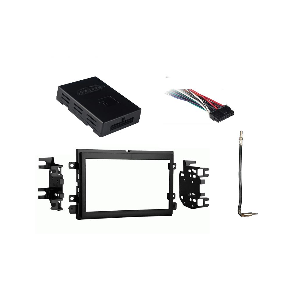 Double Din Radio Dash Install Kit for some Chrysler Dodge Jeep w//OEM Factory Nav