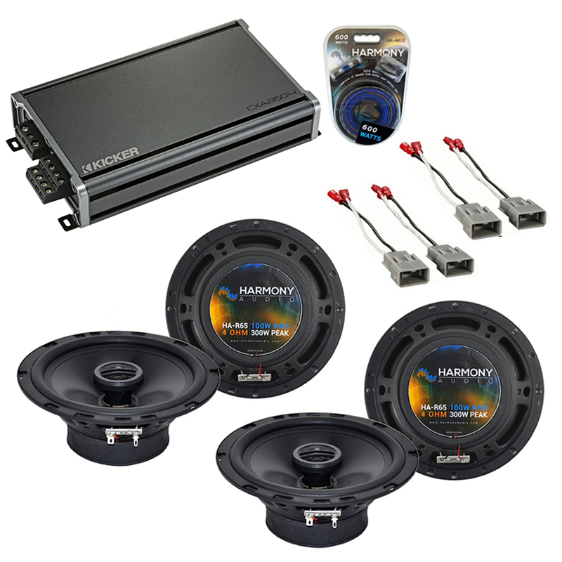 Compatible with Acura MDX 2001-2006 Factory Speaker Replacement Harmony (2) R65 & CXA360.4 Amp