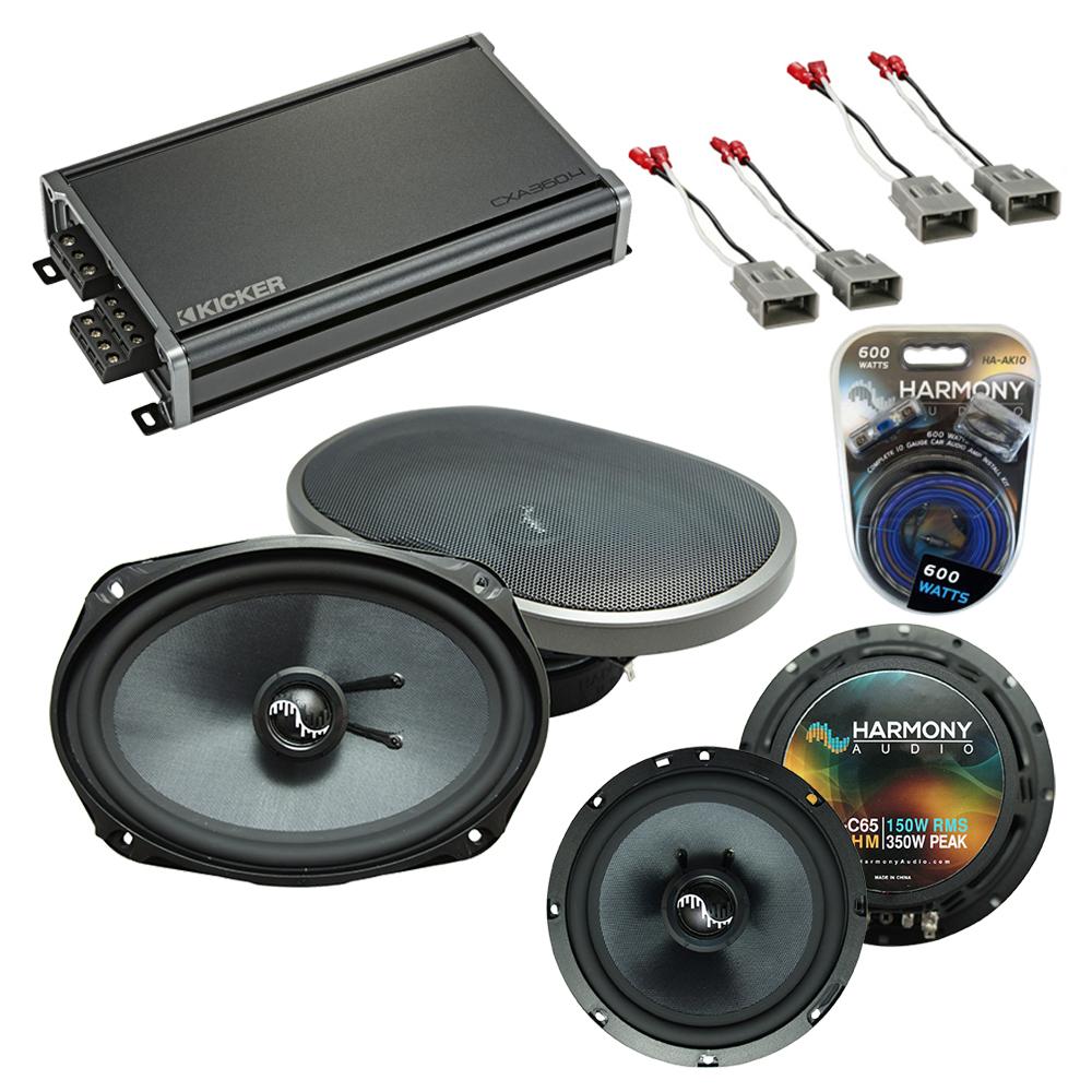 Compatible with Honda Civic 1996-2000 Speakers Replacement Harmony C65 C69 & CXA360.4 Amp