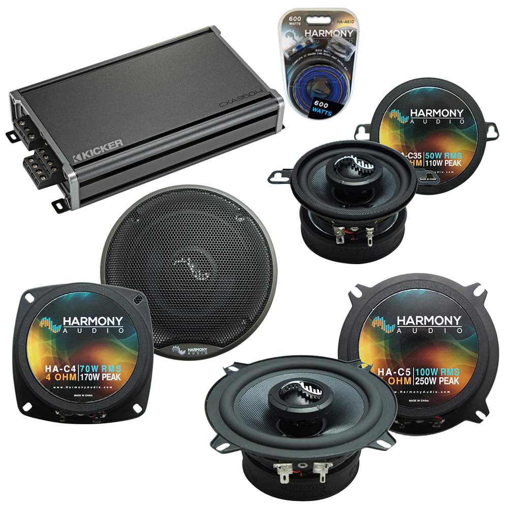 Compatible with BMW 3 Series 1999-2001 Replacement Harmony Premium Speakers & CXA360.4 Amp