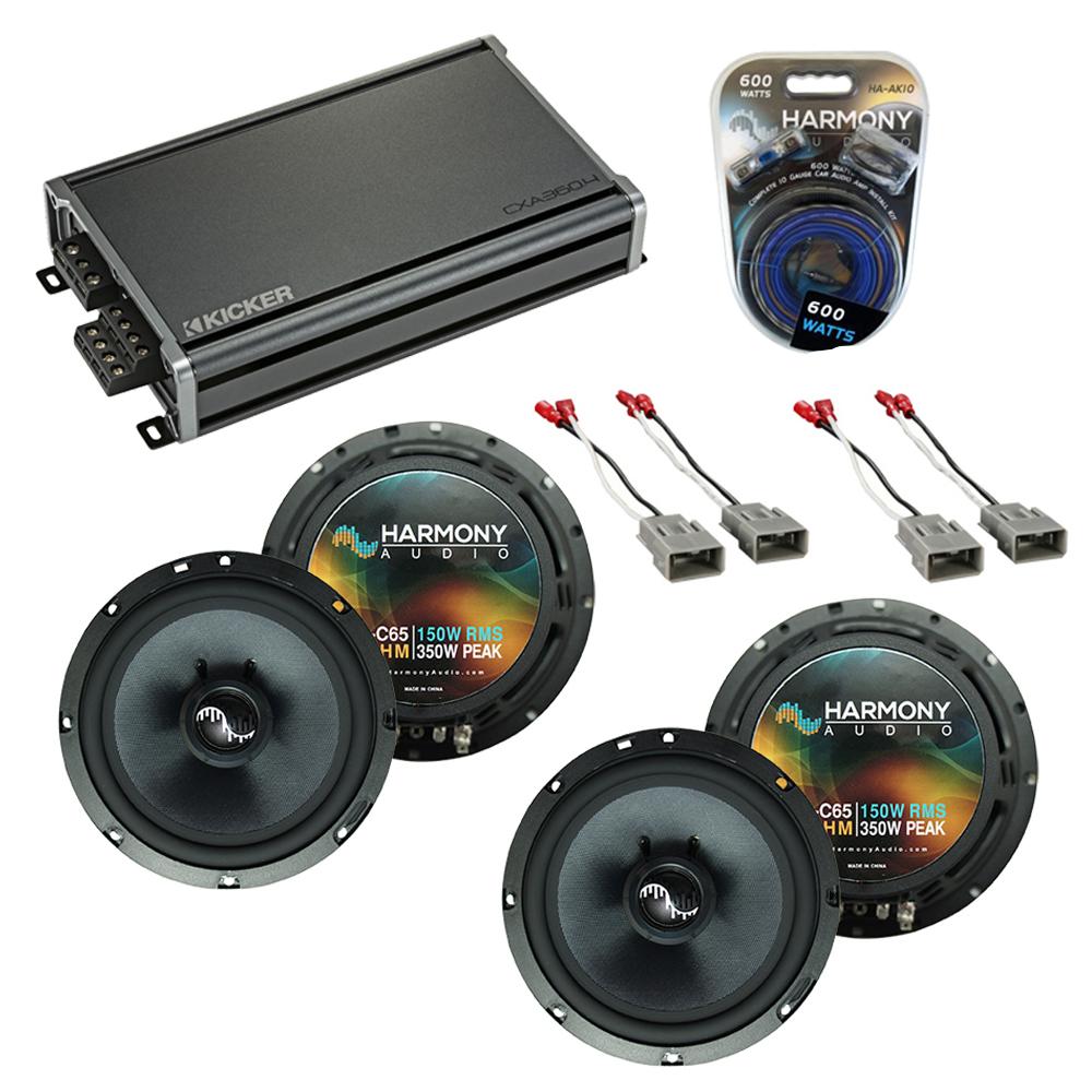 Compatible with Honda Pilot 2003-2008 Factory Speakers Replacement Harmony (2) C65 & CXA360.4