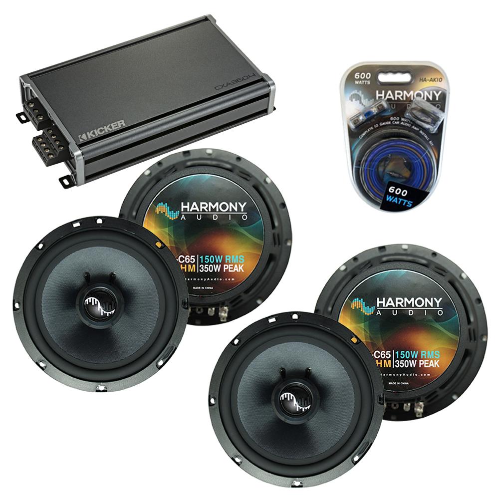 Compatible with Honda Ridgeline 2005-2014 Speakers Replacement Harmony (2) C65 & CXA360.4