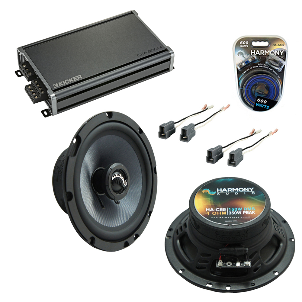 Compatible with Hyundai Tiburon 2003-2008 Speakers Replacement Harmony C65 C69 & CXA360.4 Amp