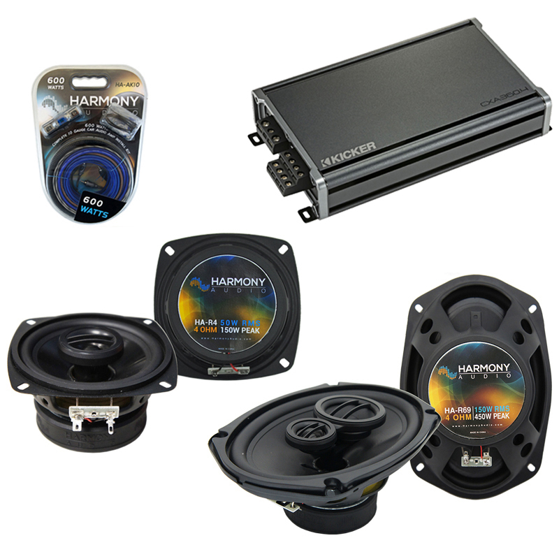Compatible with Infiniti M30 1990-1992 OEM Speaker Replacement Harmony R4 R69 & CXA360.4 Amp