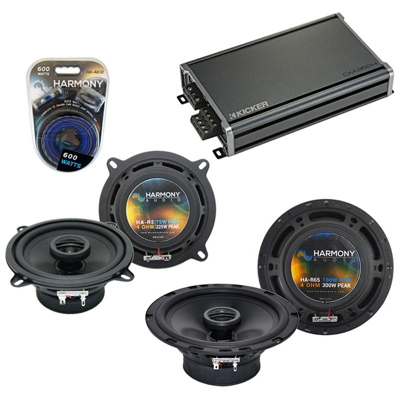 Compatible with Isuzu Trooper 1990-2002 OEM Speaker Replacement Harmony R65 R5 & CXA360.4 Amp
