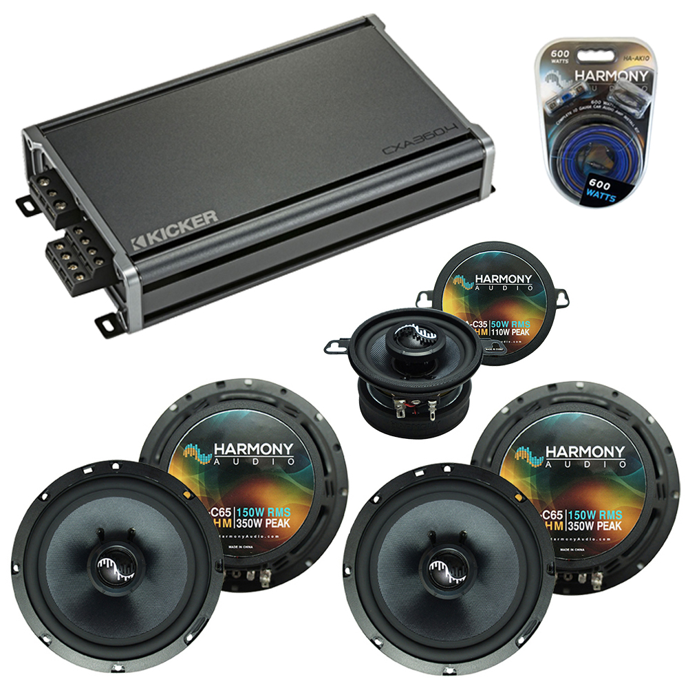 Compatible with Jeep Liberty 02-07 OEM Premium Speaker Replacement Harmony (2) C65 C35 & CXA360.4