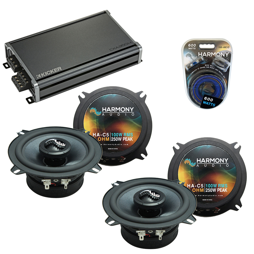 Compatible with BMW 850i 1990-1991 Factory Speakers Replacement Harmony (2) C5 & CXA360.4