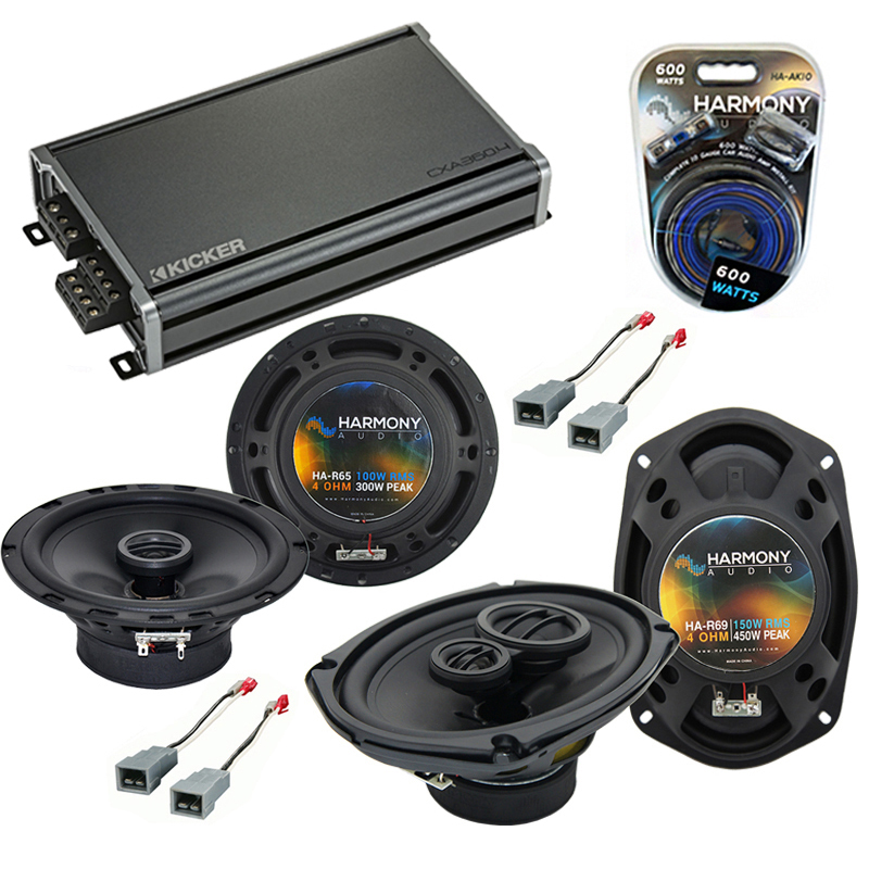 Compatible with Lincoln Mark VII 84-88 OEM Speaker Replacement Harmony R65 R69 & CXA360.4 Amp