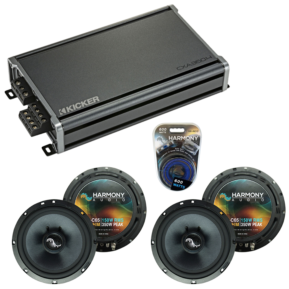Compatible with BMW X5 2000-2013 Factory Speakers Replacement Harmony (2)C65 & CXA360.4