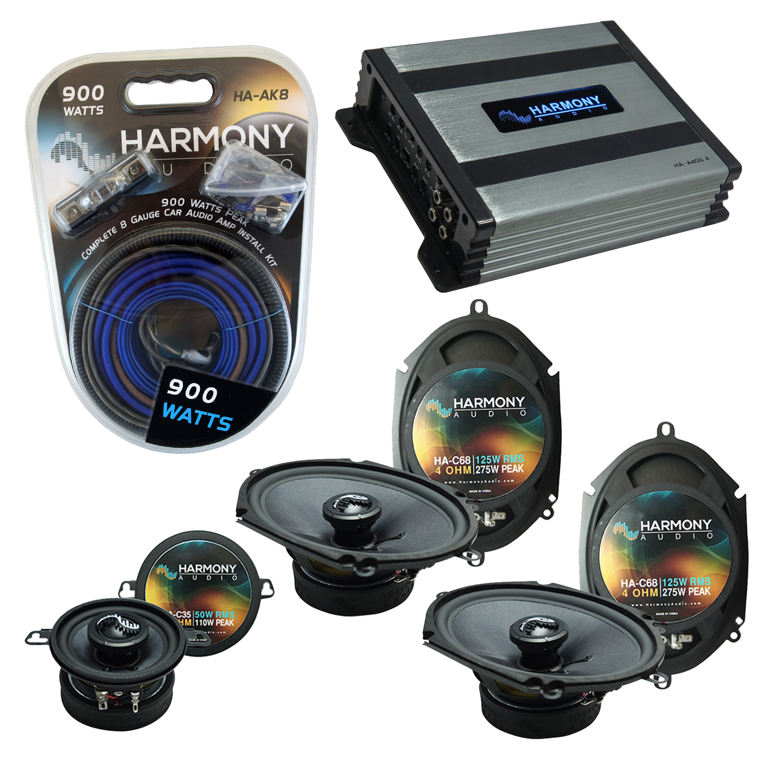 Compatible with Lincoln Mark VIII 96-98 OEM Premium Speaker Replacement Harmony Upgrade & Harmony HA-A400.4