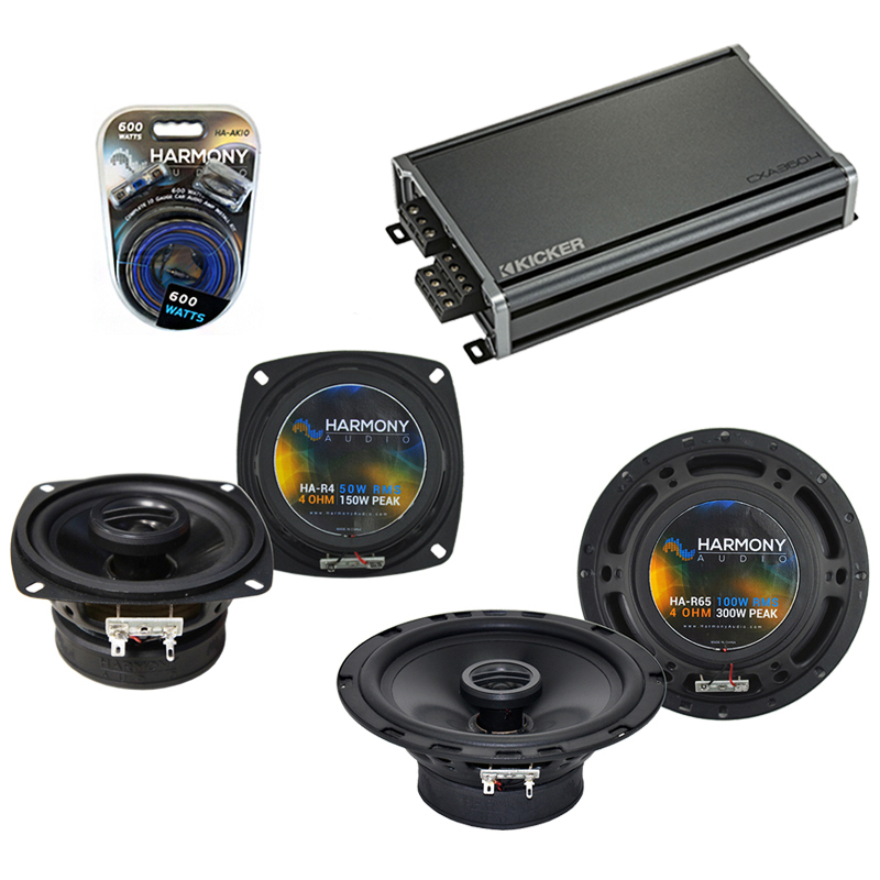 Compatible with Mazda 190 Series 84-93 OEM Speaker Replacement Harmony R4 R65 & CXA360.4 Amp