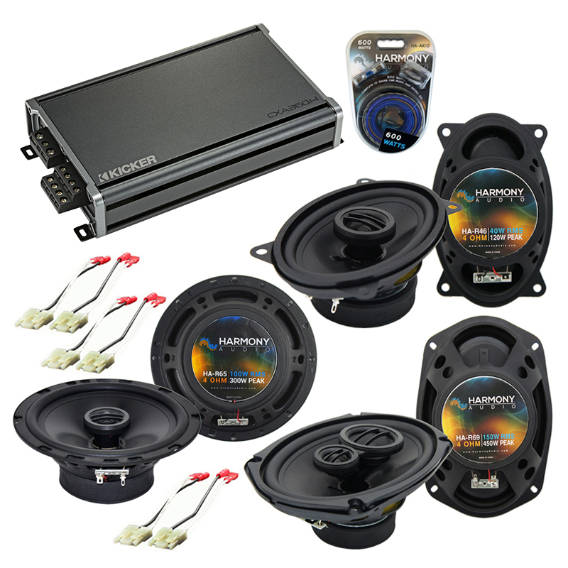 Compatible with Buick Electra 1984-1990 Factory Speaker Replacement Harmony Speakers & CXA360.4 Amp