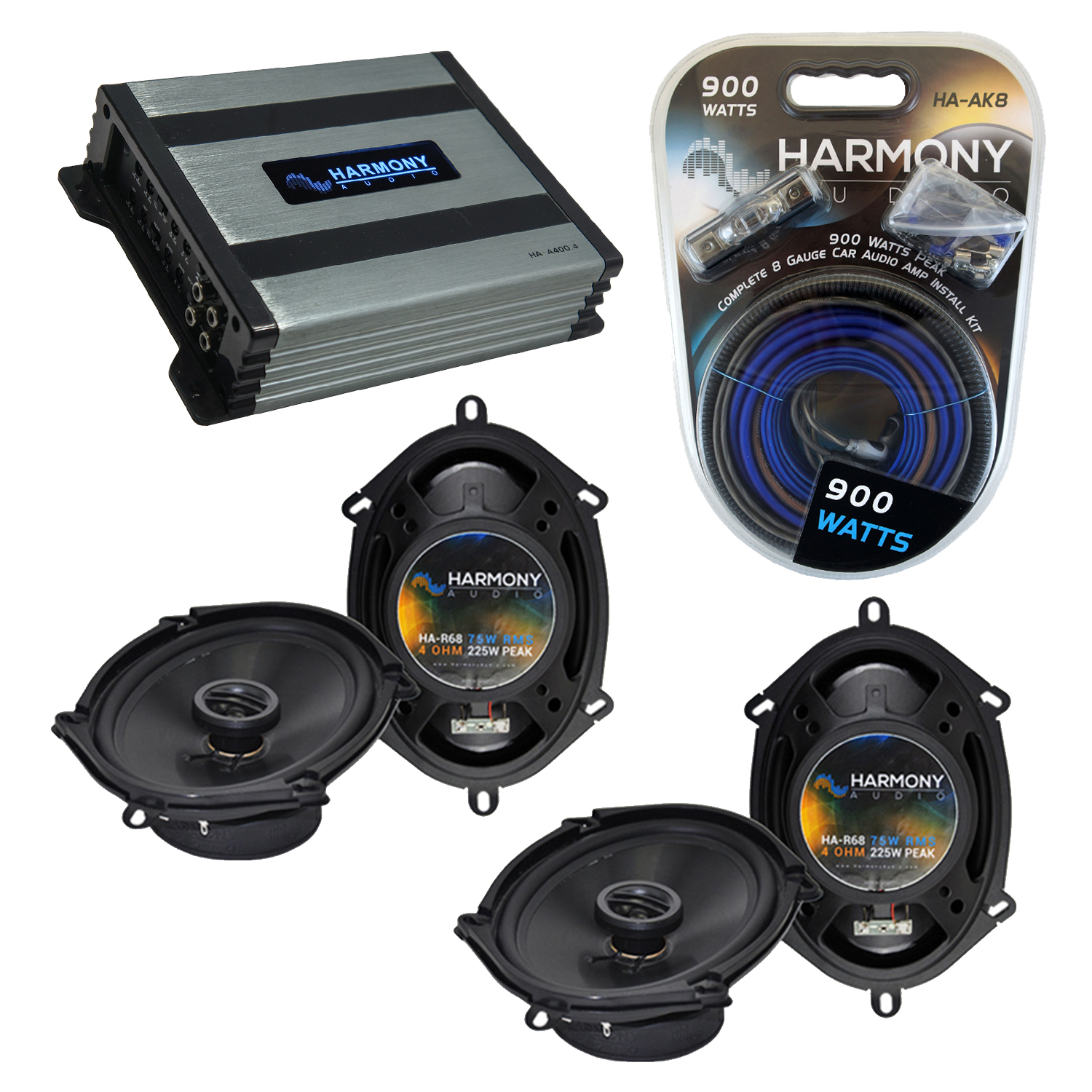 Compatible with Nissan Quest 1993-2006 Factory Speaker Replacement Harmony (2) R68 & Harmony HA-A400.4