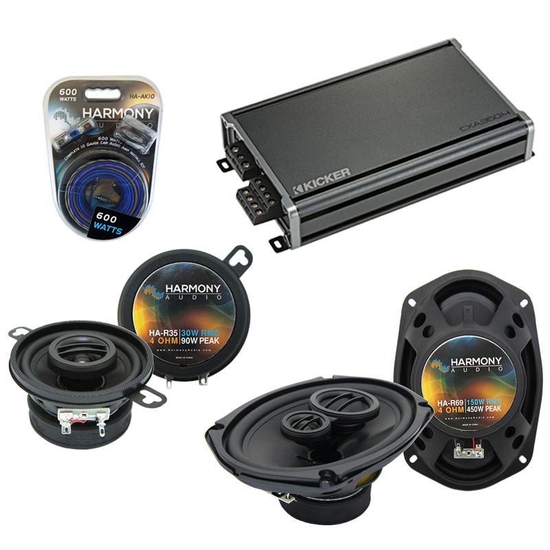 Compatible with Oldsmobile Cutlass Ciera 1995-1996 OEM Speaker Replacement Harmony & CXA360.4 Amp