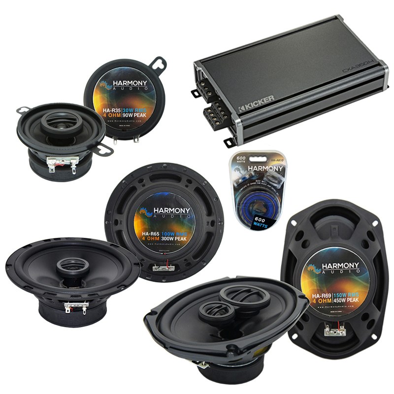 Compatible with Oldsmobile Ninety-Eight 1985-1985 OEM Speaker Replacement Harmony & CXA360.4 Amp
