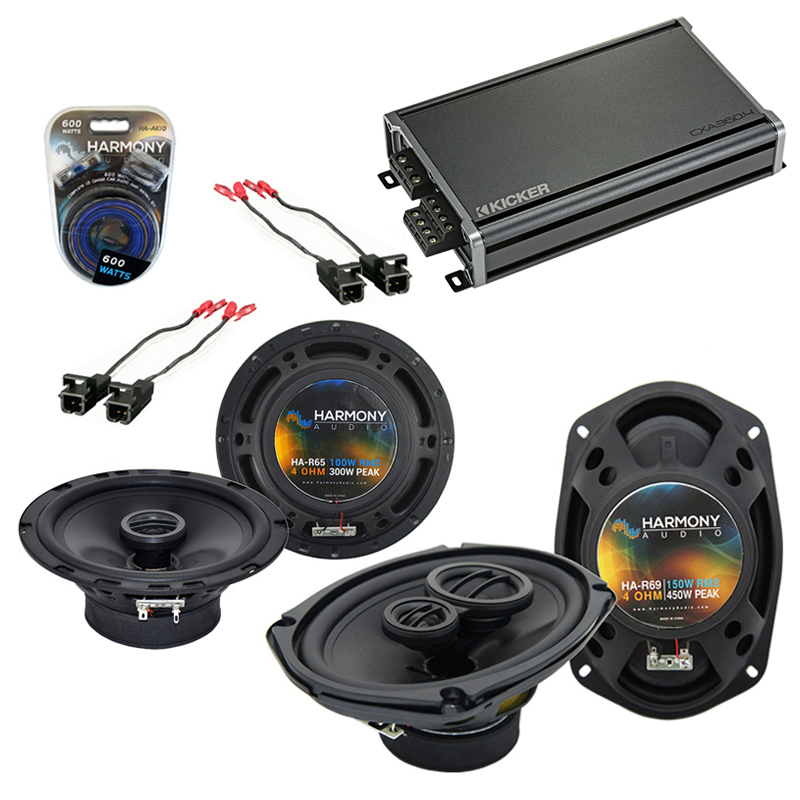 Compatible with Buick Riviera 1996-1999 OEM Speaker Replacement Harmony R65 R69 & CXA360.4 Amp