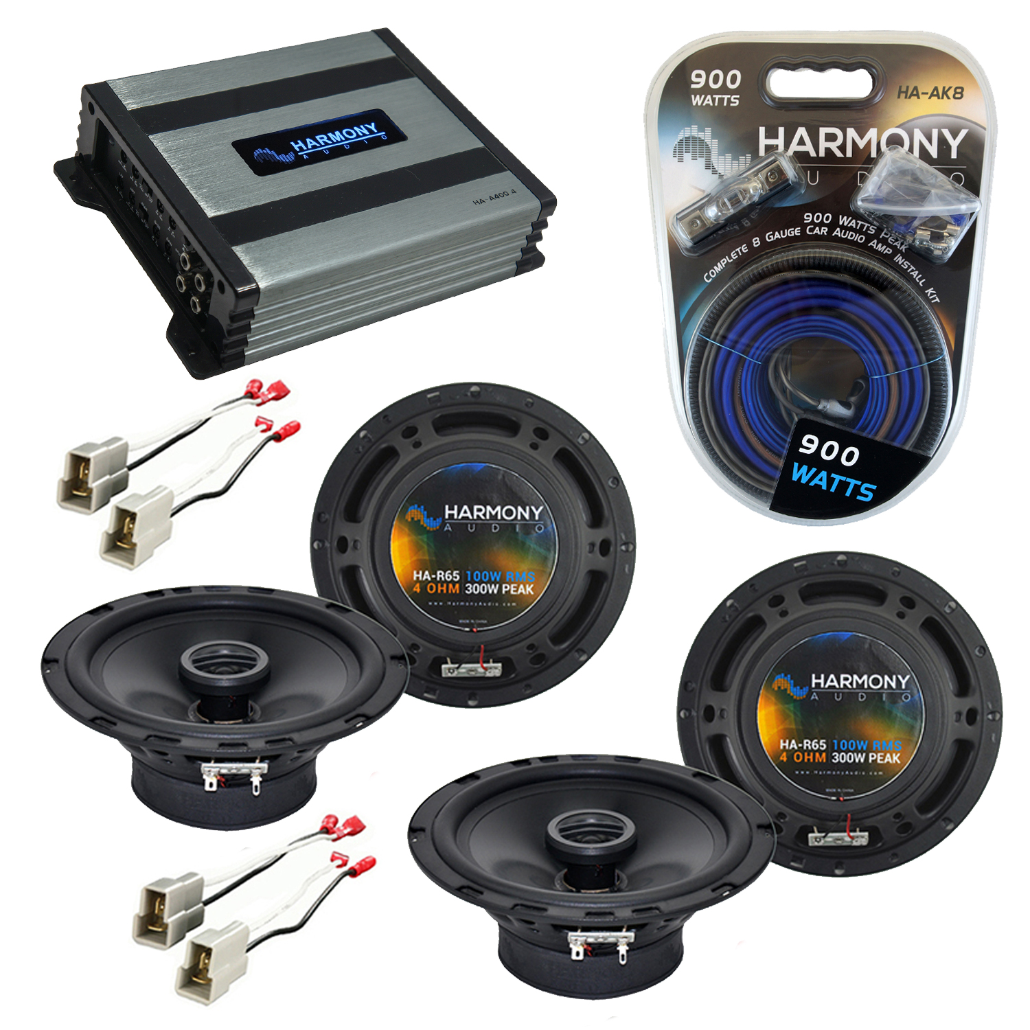 Compatible with Subaru Outback 2000-2004 Factory Speaker Replacement Harmony (2) R65 & Harmony HA-A400.4