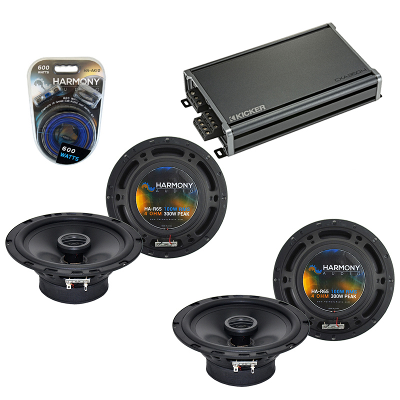 Compatible with Subaru Outback 2000-2009 Factory Speaker Replacement Harmony (2) R65 & CXA360.4