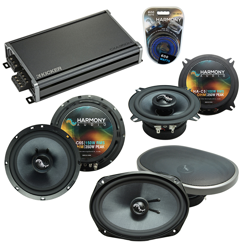 Compatible with Cadillac DeVille 2000-2005 OEM Component Speakers Replacement Harmony & CXA360.4