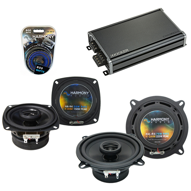 Compatible with Toyota Truck/4 Runner 89-93 OEM Speaker Replacement Harmony R4 R65 & CXA360.4 Amp