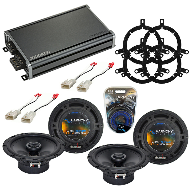 Compatible with Toyota Sequoia 2003-2007 Factory Speaker Replacement Harmony (2) R65 & CXA360.4 Amp