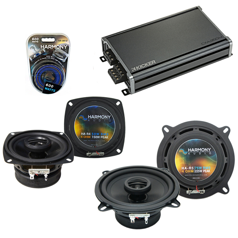 Compatible with Toyota Tercel 1991-1994 Factory Speaker Replacement Harmony R4 R65 & CXA360.4 Amp
