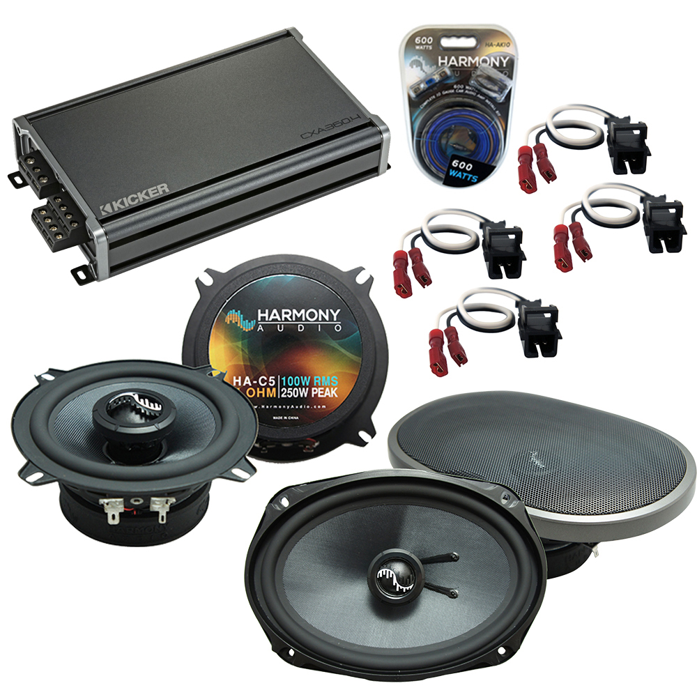 Compatible with Cadillac Seville 1992-1995 Speakers Replacement Harmony C5 C69 & CXA360.4 Amp