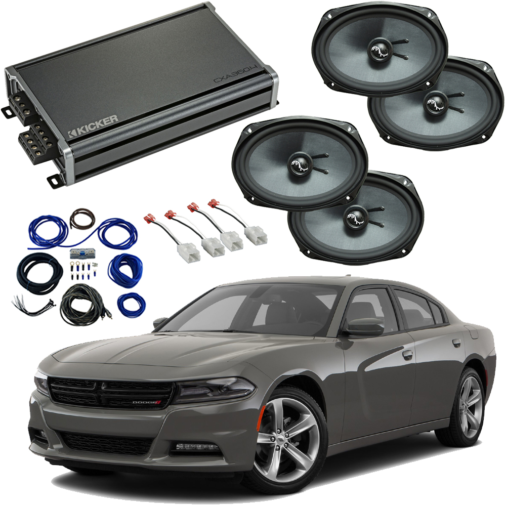 Compatible with Dodge Charger 2015-2019 Premium Speaker Replacement Package Harmony C69 & CXA360.4