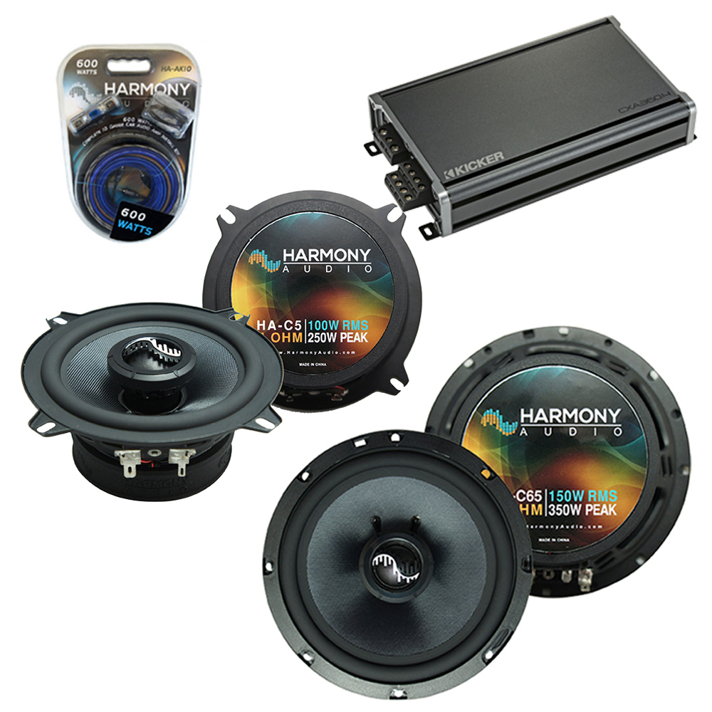 Compatible with Chevy Avalanche 2007-2013 OEM Speakers Replacement Harmony C65 C5 & CXA360.4 Amp