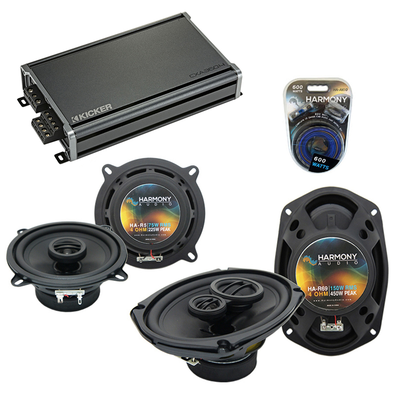 Compatible with Chevy Aveo (Sedan) 07-08 OEM Speaker Replacement Harmony R5 R69 & CXA360.4 Amp