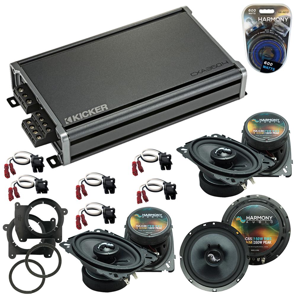 Compatible with Chevy Blazer 1998-2005 OEM Speakers Replacement Harmony (2) C46 C65 & CXA360.4