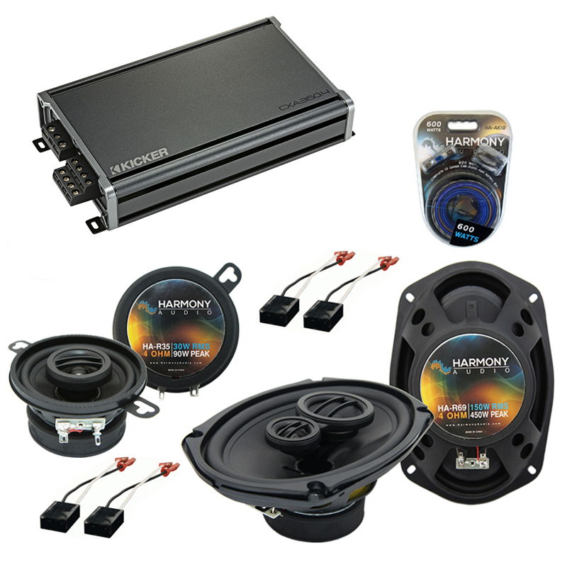 Compatible with Chevy Cavalier 1991-1994 OEM Speaker Replacement Harmony R35 R69 & CXA360.4 Amp