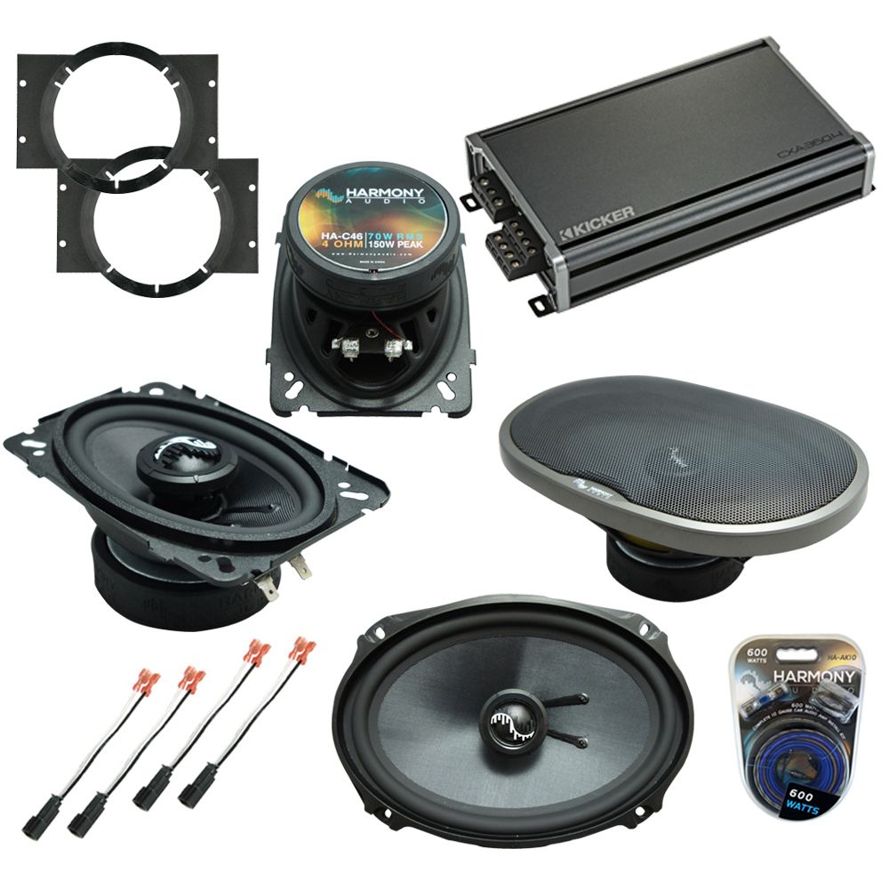Compatible with Chevy Cavalier 1995-2005 OEM Speakers Replacement Harmony C46 C69 & CXA360.4 Amp