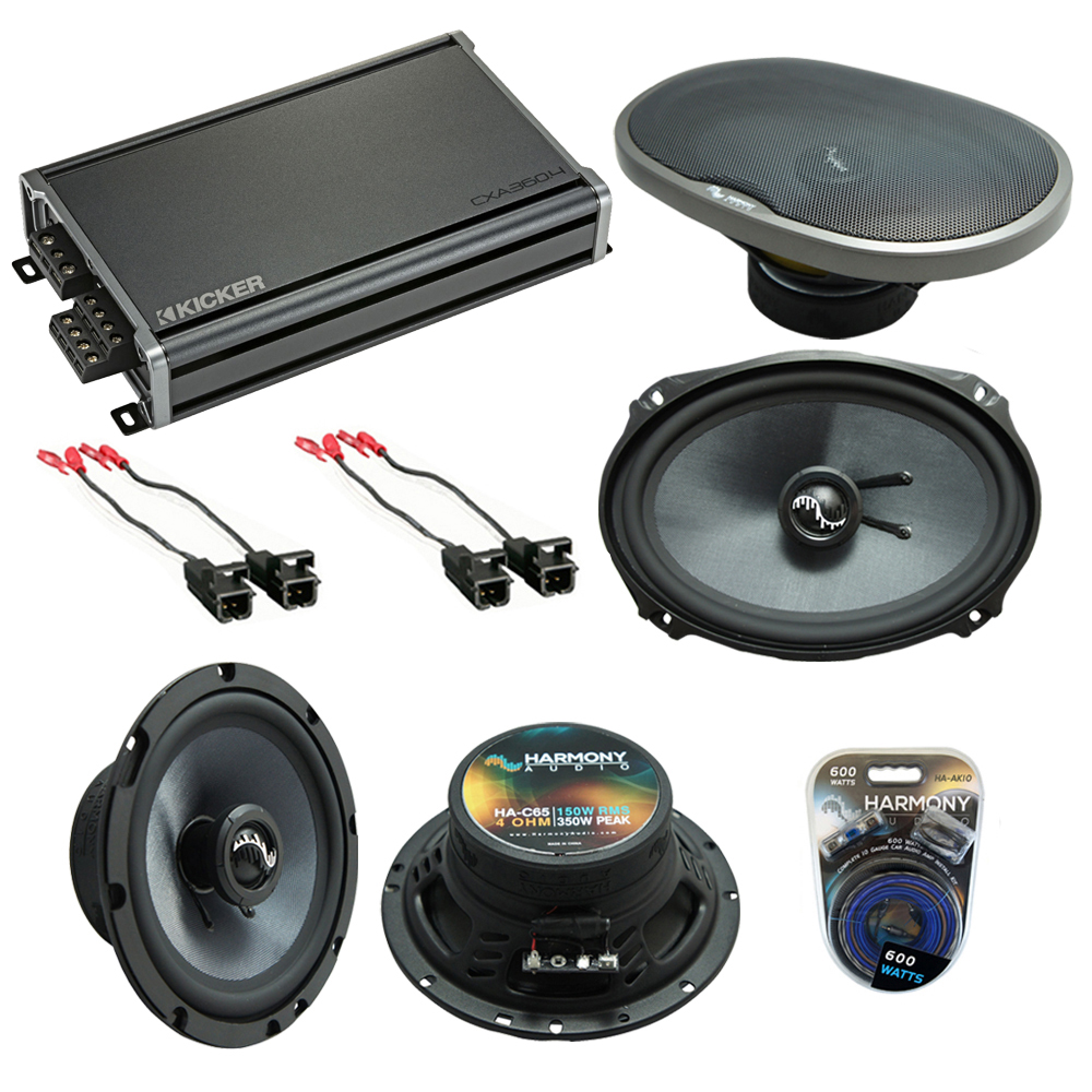 Compatible with Chevy Impala 2000-2016 Factory Speakers Replacement Harmony C65 C69 & CXA360.4