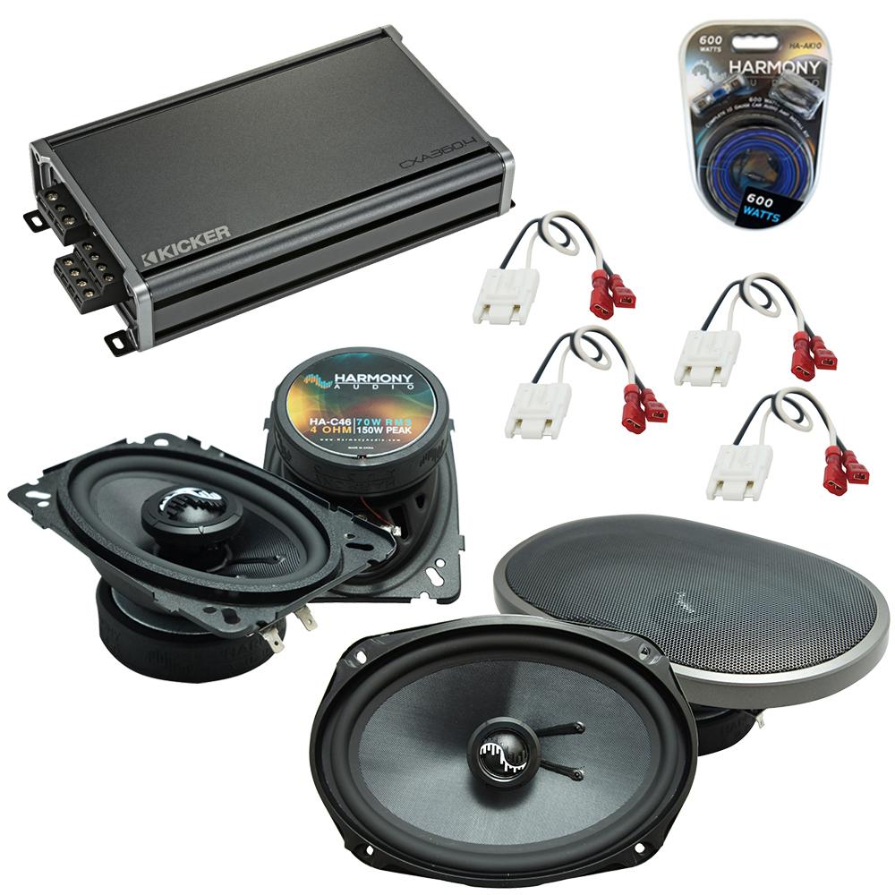 Compatible with Chevy S-10 Blazer 82-89 OEM Speakers Replacement Harmony C46 C69 & CXA360.4 Amp