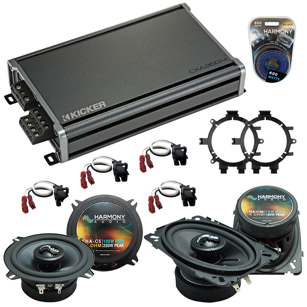 Compatible with Chevy Silverado Pickup 99-06 Speakers Replacement Harmony C5 C46 & CXA360.4 Amp