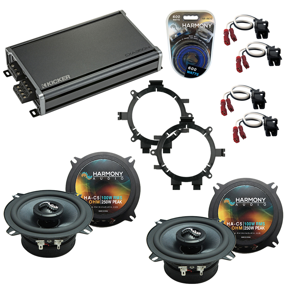 Compatible with Chevy Silverado Truck 2007-2013 Speakers Replacement Harmony C5 & CXA360.4 Kit