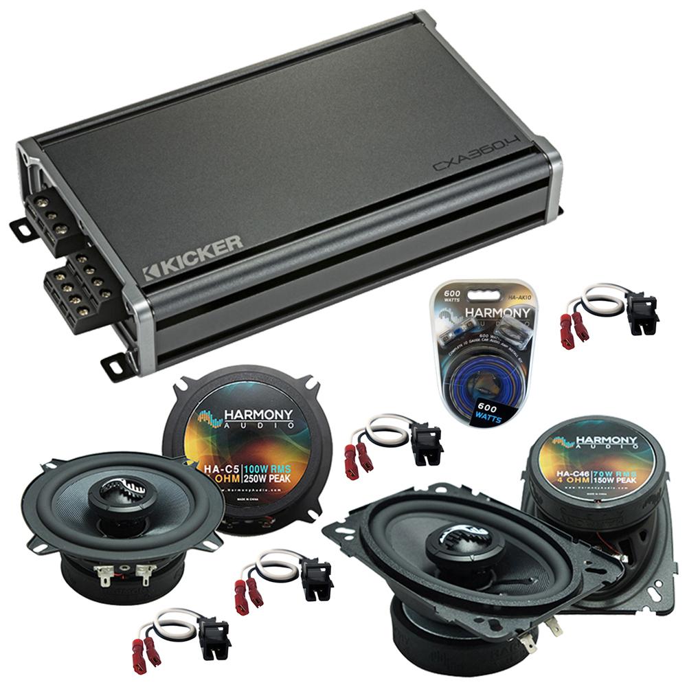 Compatible with Chevy Silverado Pickup Classic 2007 Replacement Harmony Premium Speakers CXA360.4