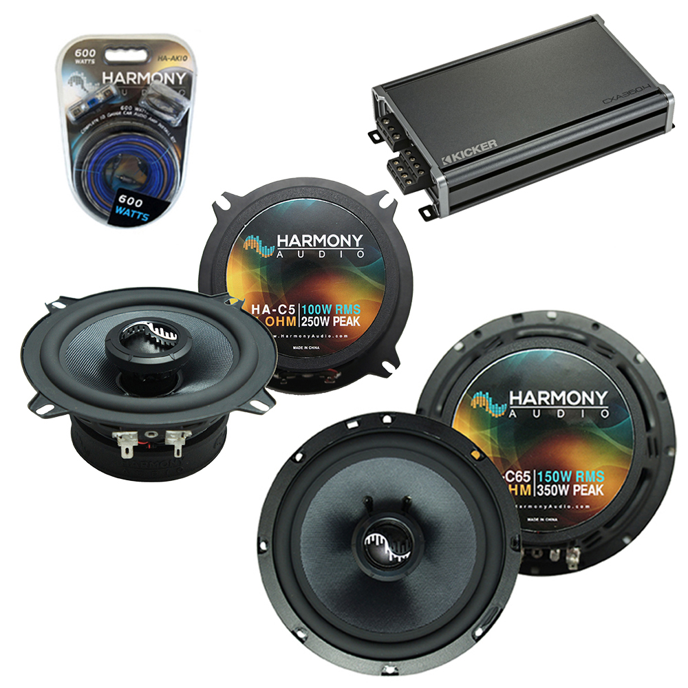 Compatible with Chevy Suburban 2007-2014 Factory Speakers Replacement Harmony C65 C5 & CXA360.4