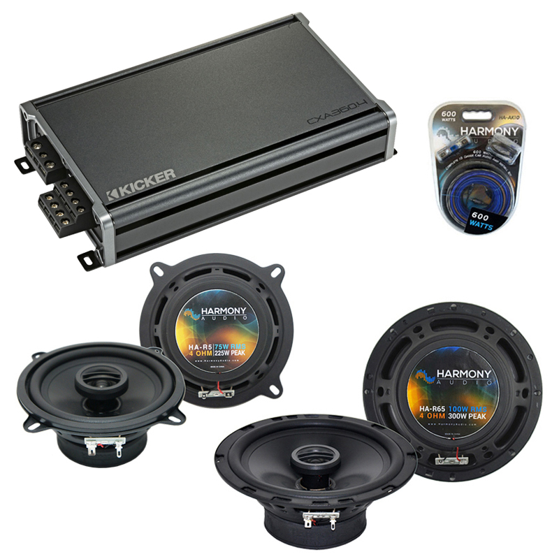 Compatible with Chevy Suburban 2007-2014 Factory Speaker Replacement Harmony R65 R5 & CXA360.4 Amp