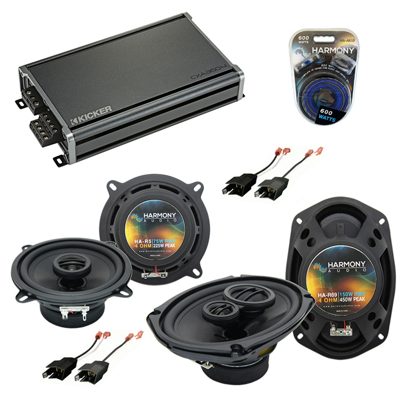 Compatible with Chrysler Fifth Avenue 84-93 OEM Speaker Replacement Harmony R5 R69 & CXA360.4 Amp