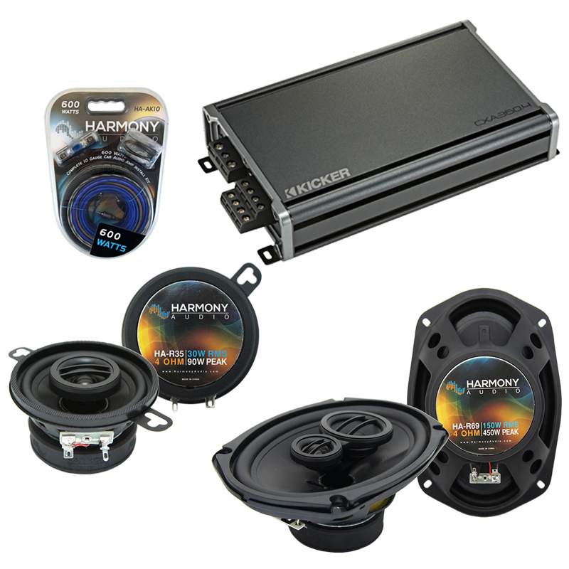 Compatible with Chrysler Yorker 94-96 OEM Speaker Replacement Harmony R35 R69 & CXA360.4 Amp