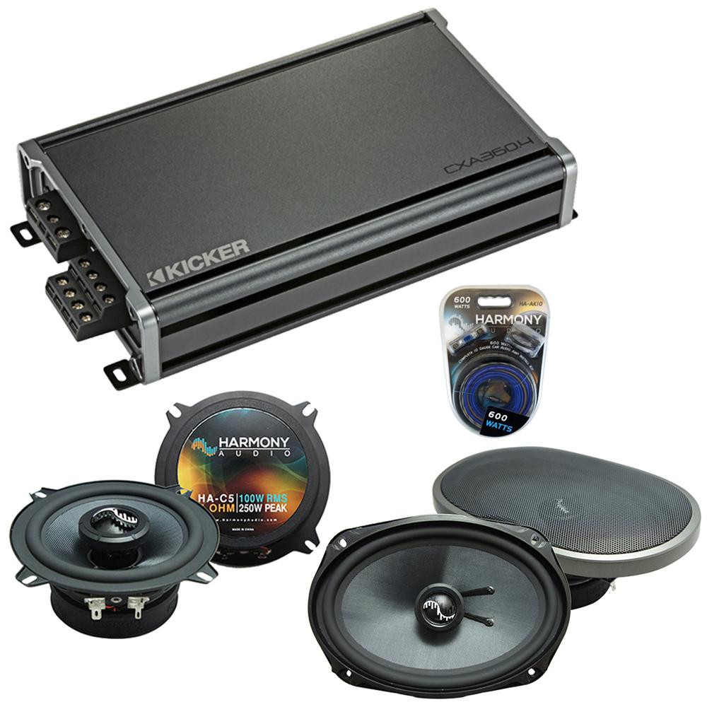 Compatible with Dodge Challenger 2008-2014 Speakers Replacement Harmony C69 C5 & CXA360.4 Amp
