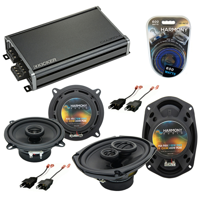 Compatible with Dodge Charger 1984-1987 Factory Speaker Replacement Harmony R5 R69 & CXA360.4 Amp