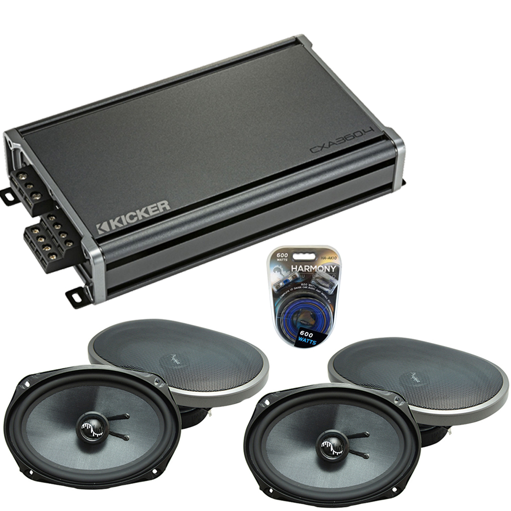 Compatible with Dodge Charger 2005-2010 Factory Speakers Replacement Harmony (2) C69 & CXA360.4