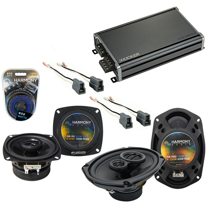 Compatible with Dodge Colt 1993-1994 Factory Speaker Replacement Harmony R4 R69 & CXA360.4 Amp